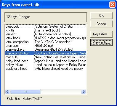 Create BibTeX bibliographies fast with Scientific Word/WorkPlace